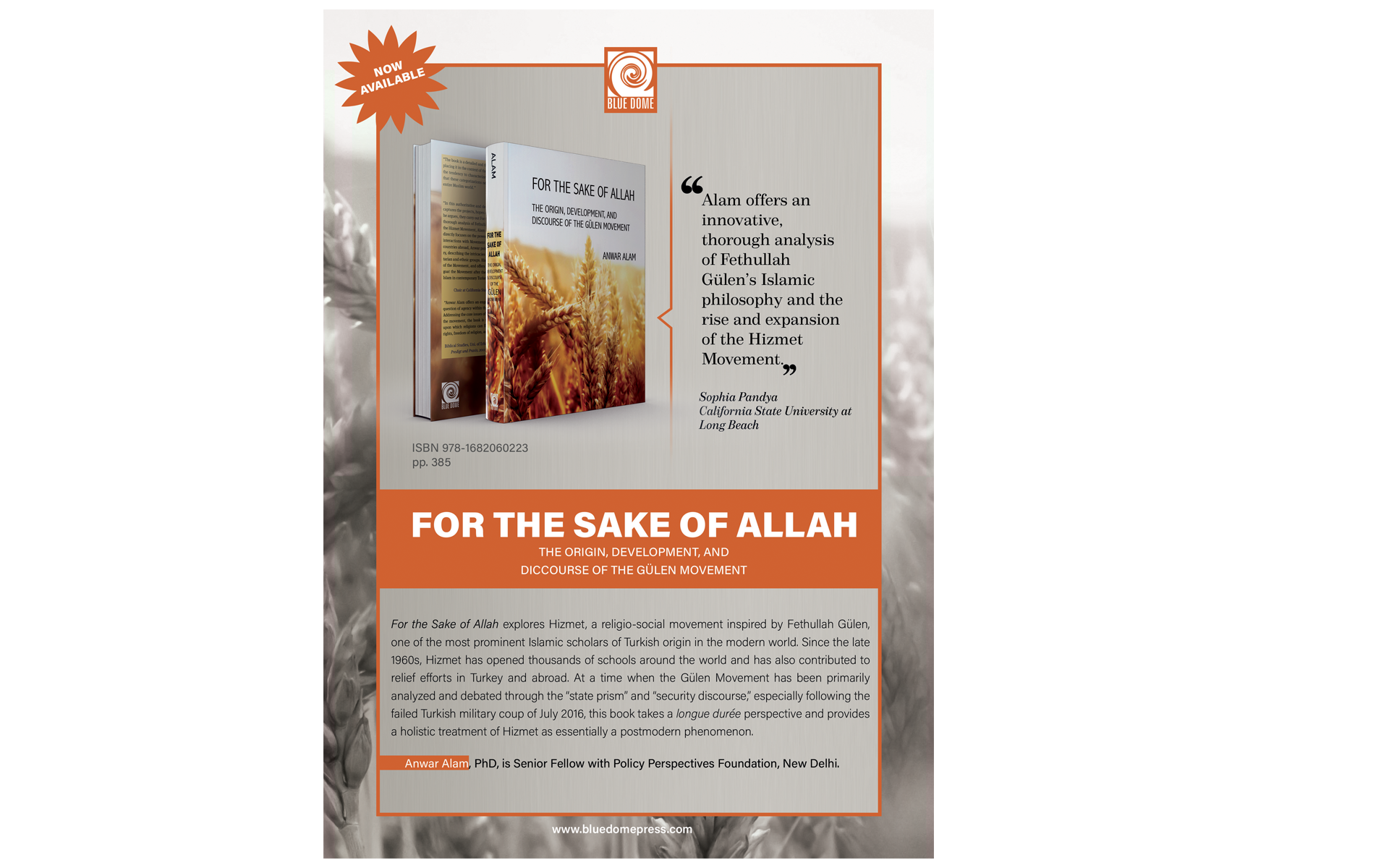 For The Sake Of Allah by Anwar Alam